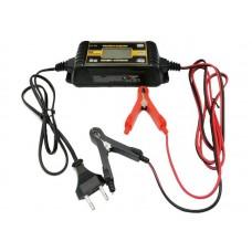 Зарядное интеллектуальное автомат. устройство ТОП АВТО АЗУ-804(4А, для 6/12В-АКБ до 120А-ч, в том числе AGM, цифр. дисплей, диагностика генератора/стартера, восстановл./десульфатация АКБ, IP65) АЗУ804