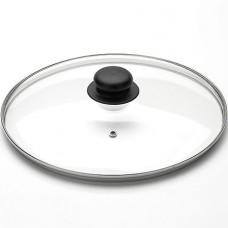 арт.4726 Крышка с ручкой стеклянная с метал/обод 26 см низ.
