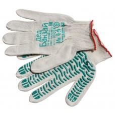 Перчатки 4нити 10класс ПВХ волна белые ГОСТ (500шт/уп)
