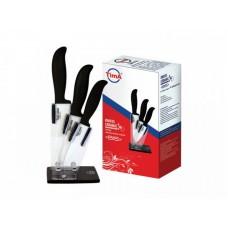 арт.KFH-799 Набор ножей  Bis (10, 12 и 15см) на подставке