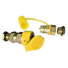 Соединитель для пневмошлангов с резьбой М22 желтый HH-097-M22 yellow/1/50