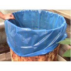 Мешок вкладыш 250л (950*1500мм) в бочку 200л  (150 мкр) ПВД голубой (короб/25шт.)