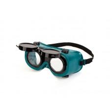 Очки газосварщика Монреаль с комплектом затемненных и прозрачных линз 7720 (1шт/уп)