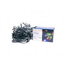 Гирлянда светод. рисовая RL-880WW, 8м, 80LED, хол.белый+голуб, темн-зел. шнур 1,5м, Funray