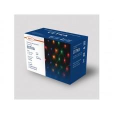 Гирлянда светодиодная «Cетка» ML-144B, 1.5*1.5м, 144 LED, синий, IP20, прозрачный шнур 1,5м