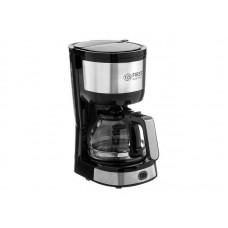 5464-4 Кофеварка FIRST,Ёмкость: 5 чашек  (0.6 л)  750 Вт, антикапля, Черный Стальной.