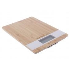 6410 Весы кухонные FIRST Special Edition, бамбук.платф., электр., 5 кг, 1 гр, тарокомпенсация,White