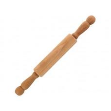 Скалка 40 см с вращающимися ручками, бук