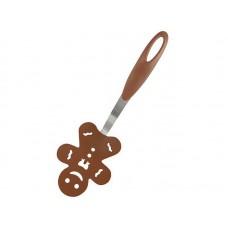 Лопатка для блинов декоративная  Пряничный человечек  PT-Gingerbread р-р 27*9,3 см (сталь, нейлон)