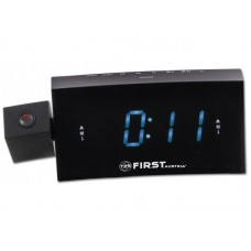 2421-8 Радиочасы с проектором FIRST LCD-дисплей 1.2'' (синий) Функции: USB для зарядки моб.Black