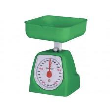 Весы кухонные механические ENERGY EN-406МК,  зелёные (0-5 кг) квадратные