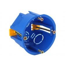 Коробка установочн. КУП 68х45мм для полых стен саморез. пласт. лапк. синяя IP30 (200/4000)