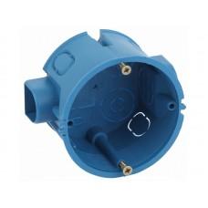 Коробка установочная КУТС 68х45мм для твердых стен саморез., стыковочные узлы синяя IP20 (200/40