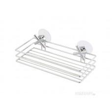 Корзинка для ванной комнаты CROSS-CH-04 19,3*10,5*11см хромированный металл, ПВХ, пластмасса (прямоугольная) (12)