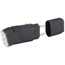 Фонарь SDA10M ЭРА аккумуляторный ручн 3хLED прямая зарядка резина L=112мм бл (24/144)