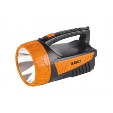 Фонарь TSP3W Трофи прожектор аккумуляторный 4V2Ah 3W LED ЗУ 220V ударопрочн пластик кор (8/24)