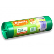 Пакеты д/мусора ХОЗЯЮШКА Мила 8мкм 60л 20шт в рулоне