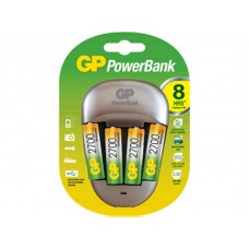 Зарядное устройство GP Mid-Range PB27 для АА и ААА аккумуляторов и 4 аккумулятора 270AAHC AA в клемшеле (быстрая зарядка)