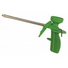 Пистолет для монтажной пены пласт. корпус (зеленый). Дед Банзай (40шт/кор)