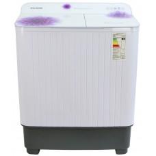 Стиральная машина WILLMARK WMS-85G Белое стекло, фиолетовые цветы (загрузка белья 8,5кг,1350 об/мин,стекл .крыш, насос.) Белое стекло, фиолетовые цветы