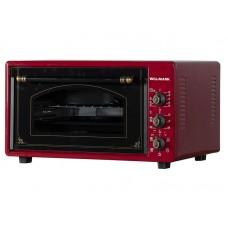 Духовка электрическая WILLMARK WOF-485RG (48л,таймер,противень 2шт.,решетка,темно-красный,1600Вт)