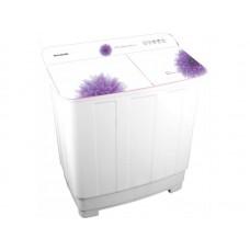 Стиральная машина WILLMARK WMS-105G Белое стекло, фиолетовые цветы (загрузка белья 10,5кг,1350 об/мин,стекл .крыш, насос.) Белое стекло, фиолетовые цветы