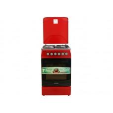 Плита комбинированная OPTIMA  CS-5631 Красный (стац., 3 газ./1 эл. конфорки, эл. духовка, 50х60) Красный