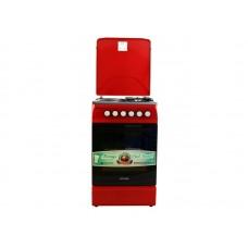Плита комбинированная OPTIMA  CS-5621 (стац., 2 газ./2 эл. конфорки, эл. духовка, 50х60) Красный