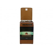 Плита комбинированная OPTIMA  CS-5632 (стац., 3 газ./1 эл. конфорки, эл. духовка, 50х60, коричневый) Коричневый