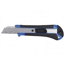 Нож технический 18мм пластиковый корпус с резиновыми вставками (400шт/уп)