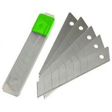 Лезвия для ножа технического, сегментированные. сменные. 10 шт, 100*18*0,33мм Дед Банзай (20/300шт)
