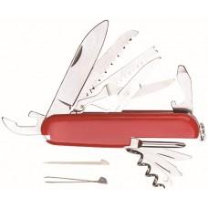 Нож складной, лезвие нержавеющая сталь 11 функций (20/120шт/уп)