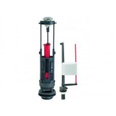 Комплект арматуры: Сливной двухрежимный механизм Wirquin ONE 3/6 L, заливной клапан Kompact поршневого типа,  донный, пластик 1/2