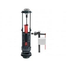 Комплект арматуры: Сливной двухрежимный механизм  Wirquin ONE 3/6 L, заливной клапан Kompact поршневого типа, боковой, пластик  1/2