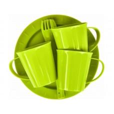 Набор д/пикника Bono на 3 персоны оливковая роща (кружки-3шт, сервировочные  тарелки-3шт, вилки-3шт) (8)