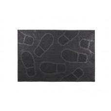 Коврик резиновый 40*60см Следы черный (20)