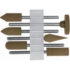 Насадки резиновые полировальные , средней зернистости , набор 6 шт. (60/240шт/уп)