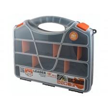 Органайзер Leader 18 /46см 44,7х35,5х0,75см 18 съёмных перегородок серо-свинцовый/оранжевый (11)