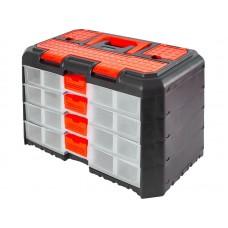 Сет для мелочей Grand 4 секции 40х21,9х24,7см черный/оранжевый (6)