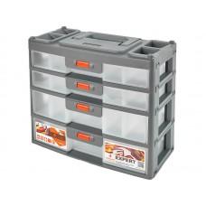 Сет для мелочей Expert 4 секции 31х15х26,2см серо-свинцовый/оранжевый (3)