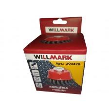 Корщетка WILLMARK тип  чаша для УШМ (гайка М14х2) витая стальная проволока 0,5мм размер 75мм