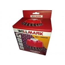 Корщетка WILLMARK  чаша для УШМ (гайка М14х2) витая стальная проволока 0,5мм 125мм