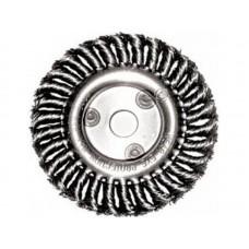 Корщетка-колесо 150х22,2мм для УШМ витая стальная (40шт/уп)