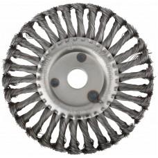 Корщетка-колесо 180х22,2мм для УШМ витая стальная (20шт/уп)