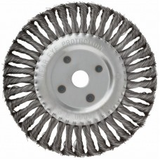 Корщетка-колесо 200х22,2мм для УШМ витая стальная (20шт/уп)