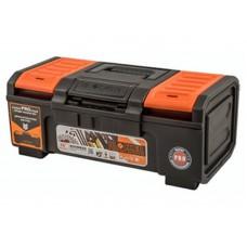 Ящик для инструмента Boombox 16  38,8х21,5х16см сверхпрочной конструкции с пружинным замком выдерживает нагрузку 80кг, съёмный внутренний лоток, крышка ящика оснащена органайзерами для хранения мелочей, возможность использования навесного замка (BR3940) /