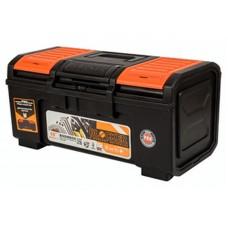 Ящик для инструмента Boombox 19  48х26,8х23,6см сверхпрочной конструкции с пружинным замком выдерживает нагрузку 100кг, съёмный внутренний лоток, крышка ящика оснащена органайзерами для хранения мелочей, возможность использования навесного замка (BR3941)/