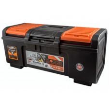 Ящик для инструмента Boombox 24  59х27х25,5см сверхпрочной конструкции с пружинным замком выдерживает нагрузку 120кг, съёмный внутренний лоток, крышка ящика оснащена органайзерами для хранения мелочей, возможность использования навесного замка (BR3942) /4