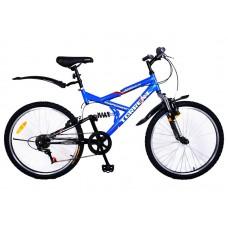 Велосипед Torrent Adrenalin Голубой, черный (рама сталь 17 , подростковый, 7 скоростей, колеса 24 д.) 24  / 17  / Голубой, черный