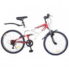 Велосипед Torrent Adrenalin Красный, белый (рама сталь 17 , подростковый, 7 скоростей, колеса 24 д.) 24  / 17  / Красный, белый
